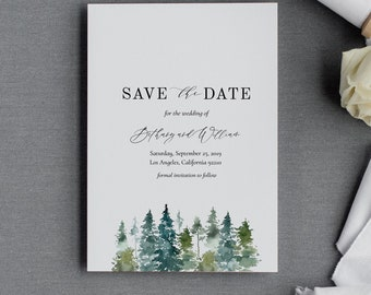 winter save the date etsy