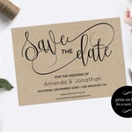 Save the Date Template,  Rustic and modern Save the date, Fully editable text, Any Color, Downloadable wedding #WDH301_3