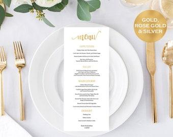 AUDIOLOGY Diagnosis Gold Wedding Menu Cards, Menu