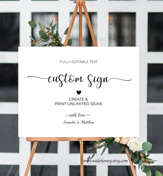 picture relating to Welcome Signs Template known as Custom made Welcome Signal Template, Editable Calligraphy, Indications