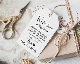 Thank You Tag - Wedding Thank You Tags -  Wedding Favor Tag - Wedding Printable - Wedding Favor - Editable - Downloadable wedding