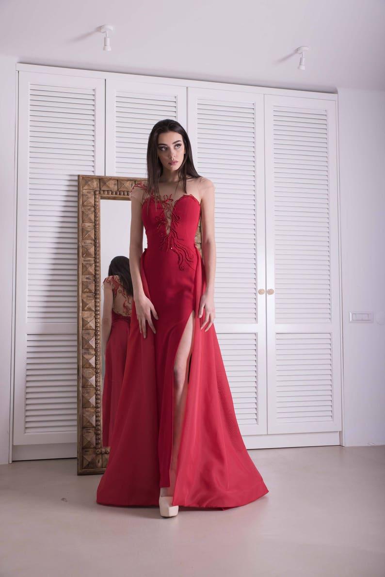 c9e9b8a179f Roten Kleid besonderen Anlass Frauen Kleider rote Mutter der