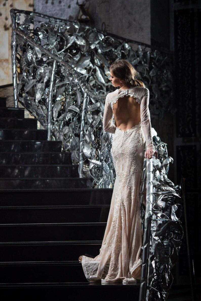 Beige elegant dress Red carpet dress Mother of the bride image 0