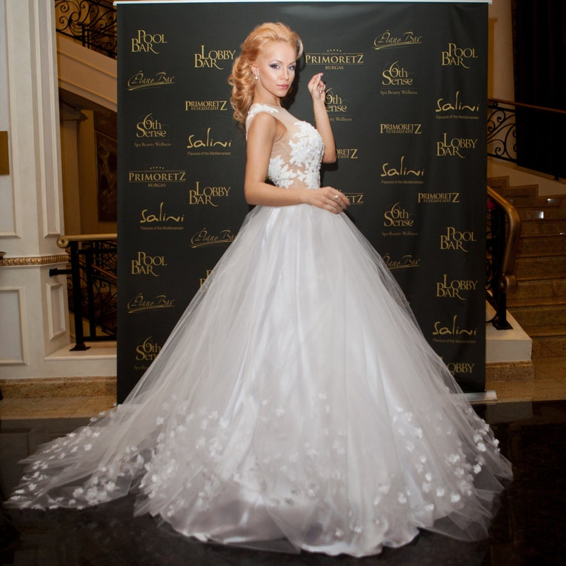 Fairy Wedding Dress.Wedding Ball Gown Fairy Wedding Dress Rustic Wedding Dress Princess Wedding Gown Fantasy Wedding Dress Embellished Wedding Dress
