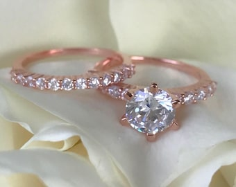Rose Gold Wedding Ring Etsy