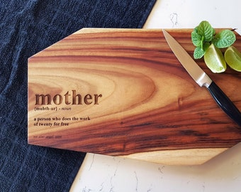 Mothers Day Geo Chopping Board