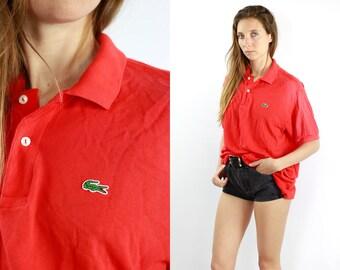 6ba51a02c LACOSTE Polo Shirt Lacoste Poloshirt Red Poloshirt Lacoste Vintage Red Top  90s Top Lacoste Top Lacoste T-Shirt Red 90s Top Lacoste Shirt 90s