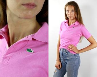 b4fa04787cd9f9 LACOSTE Polo Shirt Pink Lacoste Polo Shirt Lacoste Pink Polo Shirt Lacoste  Vintage T Shirt Lacoste T-Shirt Pink Lacoste Shirt Poloshirt T174