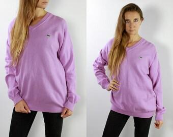 c22d8ce6e455f Lacoste Jumper Lacoste Sweater Lacoste Jumper Purple Lacoste Sweater Purple  Lacoste Vintage Lacoste Lacoste Wool Jumper WP85