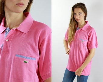 124f8d4ac6268 LACOSTE Polo Shirt Pink Lacoste Polo Shirt Lacoste Pink Polo Shirt Lacoste  Vintage T Shirt Lacoste T-Shirt Pink Lacoste Shirt 90s Poloshirt