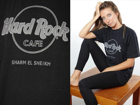 Hard Rock Cafe T-Shirt Hard Rock Cafe Shirt Black T-Shirt Hard Rock Cafe Sharm el Sheik Vintage Hard Rock T-Shirt Black Sharm el Sheik T56