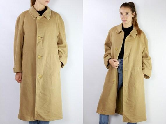 Wool Coat Beige / Beige Wool Coat / Camel Coat Beige / Camel Hair Coat / Camel Coat Vintage /  Beige Coat Wool / Vintage Coat Aquascutum