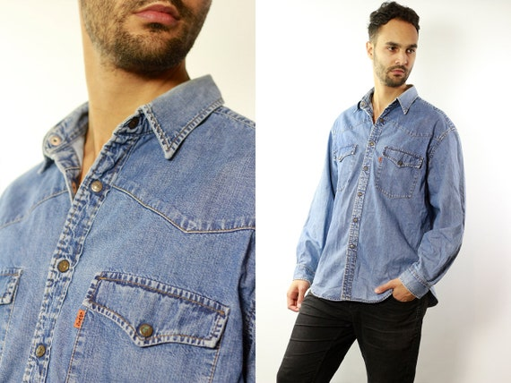 LEVIS Denim Shirt Levis Jean Shirt Levis Shirt Blue Shirt Levis Vintage Levis Shirt Button Shirt Levis Jean Shirt Denim Shirt Vintage HE73