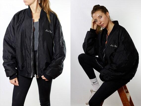 Bomber Jacket Black Bomber Jacket 90s Bomber Jacket 90s Clothing Vintage Clothing Womens Jacket Womens Bomber Jacket Vintage Bomber JA74