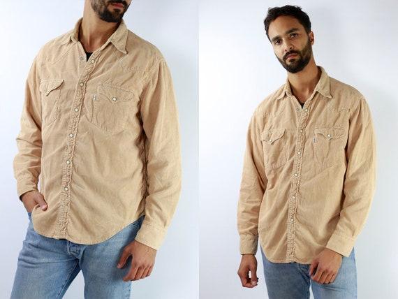 LEVIS Denim Shirt Levis Jean Shirt Levis Shirt Beige Shirt Levis Vintage Levis Corduroy Shirt Levis Jean Shirt Corduroy Shirt Vintage HE5