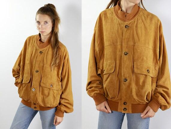 Brown Suede Jacket Suede Bomber Jacket Suede Jacket Brown Vintage Suede Jacket 80s Suede Jacket Bomber Jacket Suede Jacket Leather Jacket