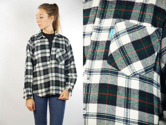 CARRERA Lumber Jack Shirt / Checked Lumberjack Shirt / Black White Lumber Shirt / Vintage Lumberjack Shirt / Checked Vintage Shirt / 90s