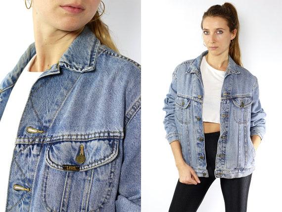 Lee Jean Jacket Lee Denim Jacket Lee Jacket Vintage Denim Jacket Vintage Jean Jacket Blue Denim Jacket Blue JeanJacket 80s Jean Jacket JJ118