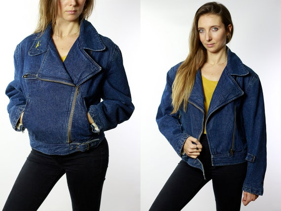 Vintage Denim Jacket Vintage Jean Jacket Blue Denim Jacket Padded Denim Jacket Lined Jean Jacket Grunge Denim Jacket Oversize Jacket DJ39