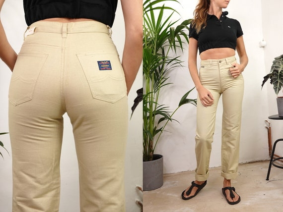 High Waist Trousers High Waisted Trousers High Waist Pants Carrera Pants Linen Trousers Women Trousers Women Pants Vintage Clothing HS41