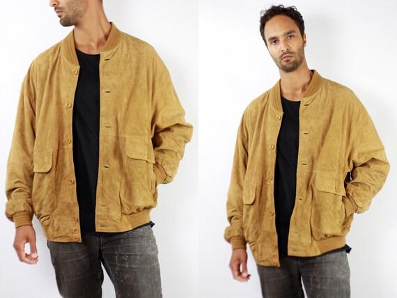 Vintage Suede Jacket Vintage Suede Bomber Suede Bomber Jacket Brown Suede Jacket Brown Bomber Jacket Soft Suede Jacket Large Suede WLJ71