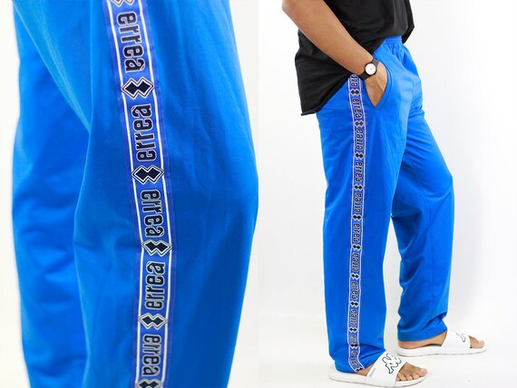 Taped Track Pants Tape Joggers Tape Sweat Pants Vintage Track Pants Vintage Joggers Retro Pants 90s Track Pants Blue Track Pants Vintage 90s