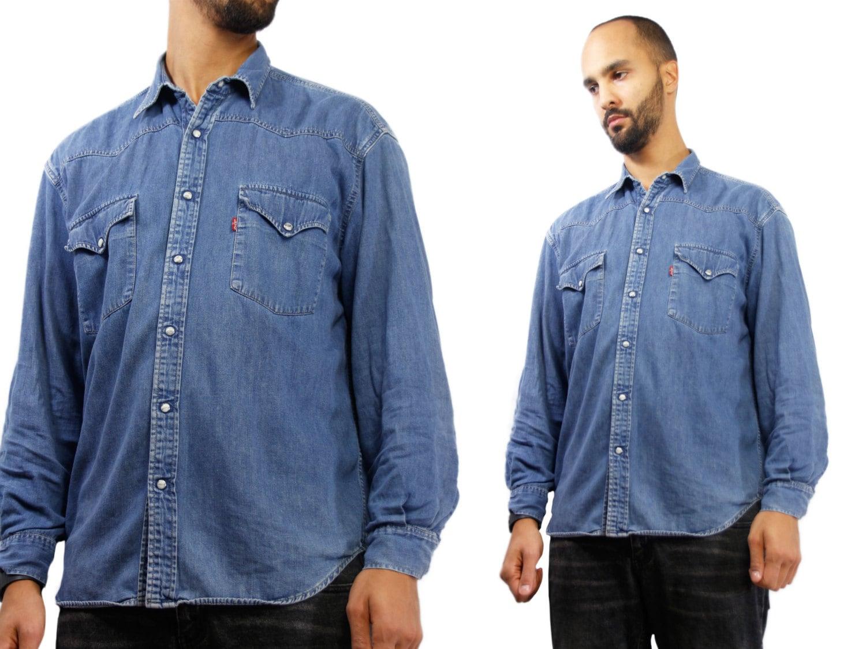 8ab8ffaa0e LEVIS Shirt Men   Levis Denim Shirt   Vintage Jean Shirt   Levis Jean ...