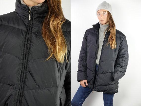 Fila Puffer Jacket Fila 90s Jacket Fila Jacket 90s Puffer jacket Black puffer Jacket Fila Down Jacket Small Puffer Vintage Clothing JA119