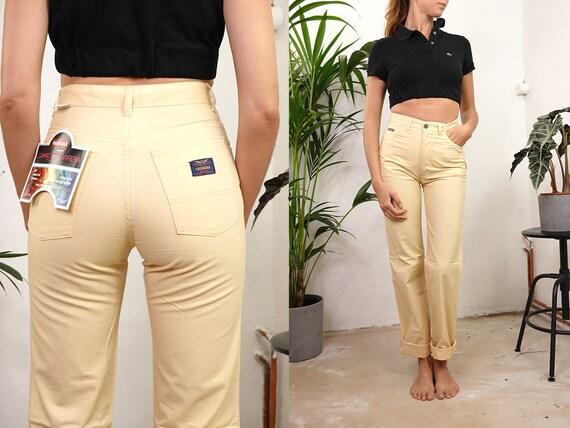 High Waist Trousers High Waisted Trousers High Waist Pants Carrera Pants Linen Trousers Women Trousers Women Pants Vintage Clothing HS42