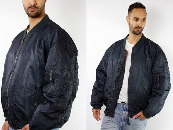 Bomber Jacket Black Bomber Jacket 90s Bomber Jacket 90s Clothing Vintage Clothing Mens Jacket Mens Bomber Jacket Vintage Bomber JA78
