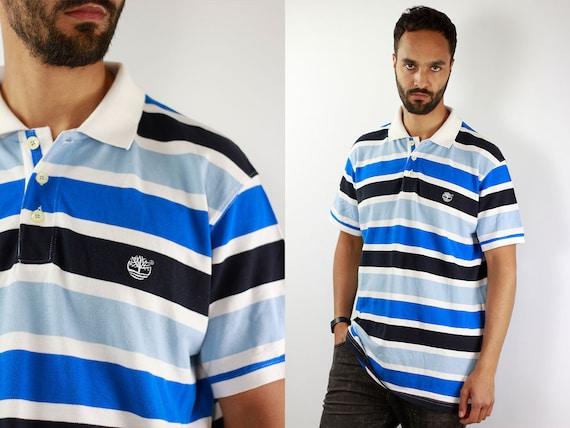 Timberland Poloshirt 90s Poloshirt Striped Polo Shirt Vintage Striped Polo Shirt Timberland Shirt Hiphop Polo Shirt Vintage Shirt 90s T100