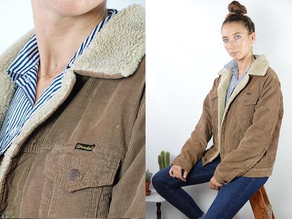 Wrangler Jacket Corduroy Jacket Sherpa Jacket Warm Corduroy Jacket Corduroy Coat Oversize Jacket Beige Jacket Women Vintage Clothing KJ7