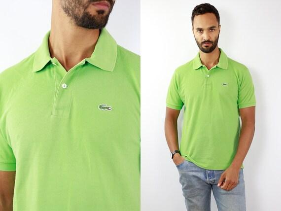 LACOSTE Poloshirt Lacoste Polo Shirt Lacoste Green Poloshirt Lacoste Vintage Polo Shirt Lacoste Top Lacoste T-Shirt 90s Top Lacoste T207
