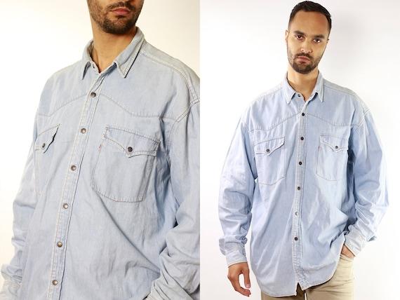 Button Down Shirt Levis Jean Shirt Levis Denim Shirt Vintage Shirt Mens Shirt Levis Shirt Vintage Clothing Hipster Shirt Vintage Levis  JH5