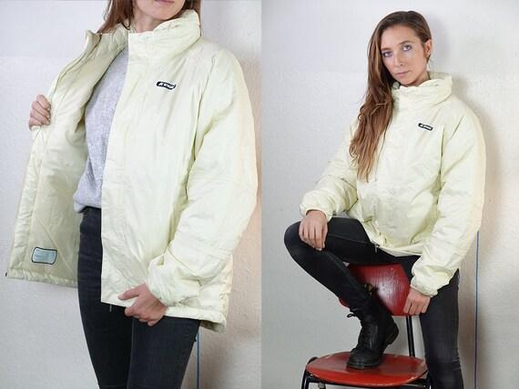 Puffer Jacket K-Way Jacket White Rain Jacket Vintage Jacket Kway Windbreaker Kway Jacket Women Kway Vintage Raincoat Vintage JA138