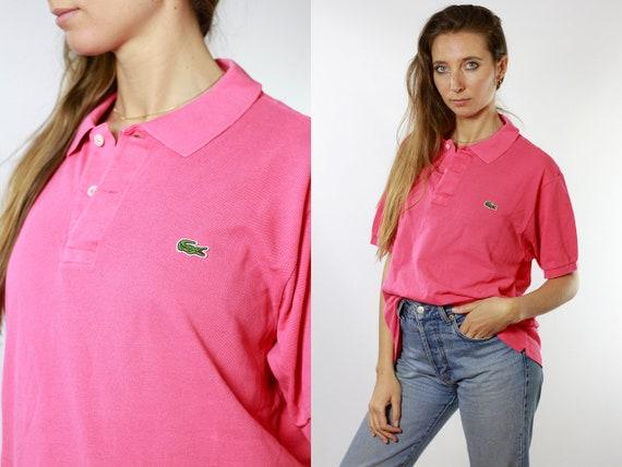 LACOSTE Polo Shirt Pink Lacoste Polo Shirt Lacoste Pink Polo Shirt Lacoste Vintage T Shirt Lacoste T-Shirt Pink Lacoste Shirt Poloshirt T24