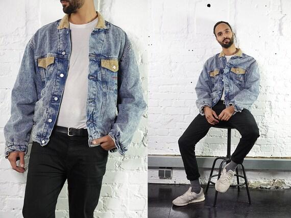 Denim Jacket Vintage Jean Jacket Blue Denim Jacket Padded Denim Jacket Lined Jean Jacket Grunge Denim Jacket Oversize Jean Jacket DJ201