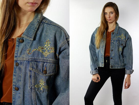 Jean Jacket 90s Denim Jacket Vintage Denim Jacket Oversize Denim Jacket 90s Jean Jacket Jean Jacket Large Denim Jacket Grunge 90 DJ64