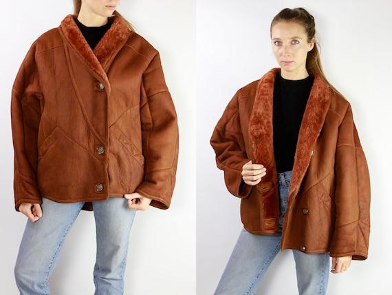 Sheepskin Jacket / Sheepskin Coat / Shearling Jacket / Shearling Coat / Vintage Shearling Coat Sherpa Coat Sherpa Jacket Suede Jacket SH4
