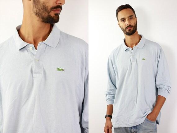 LACOSTE Poloshirt Lacoste Polo Shirt Lacoste Light Blue Poloshirt Lacoste Vintage T Shirt Lacoste T-Shirt Baby Blue Lacoste Shirt Baby Blue
