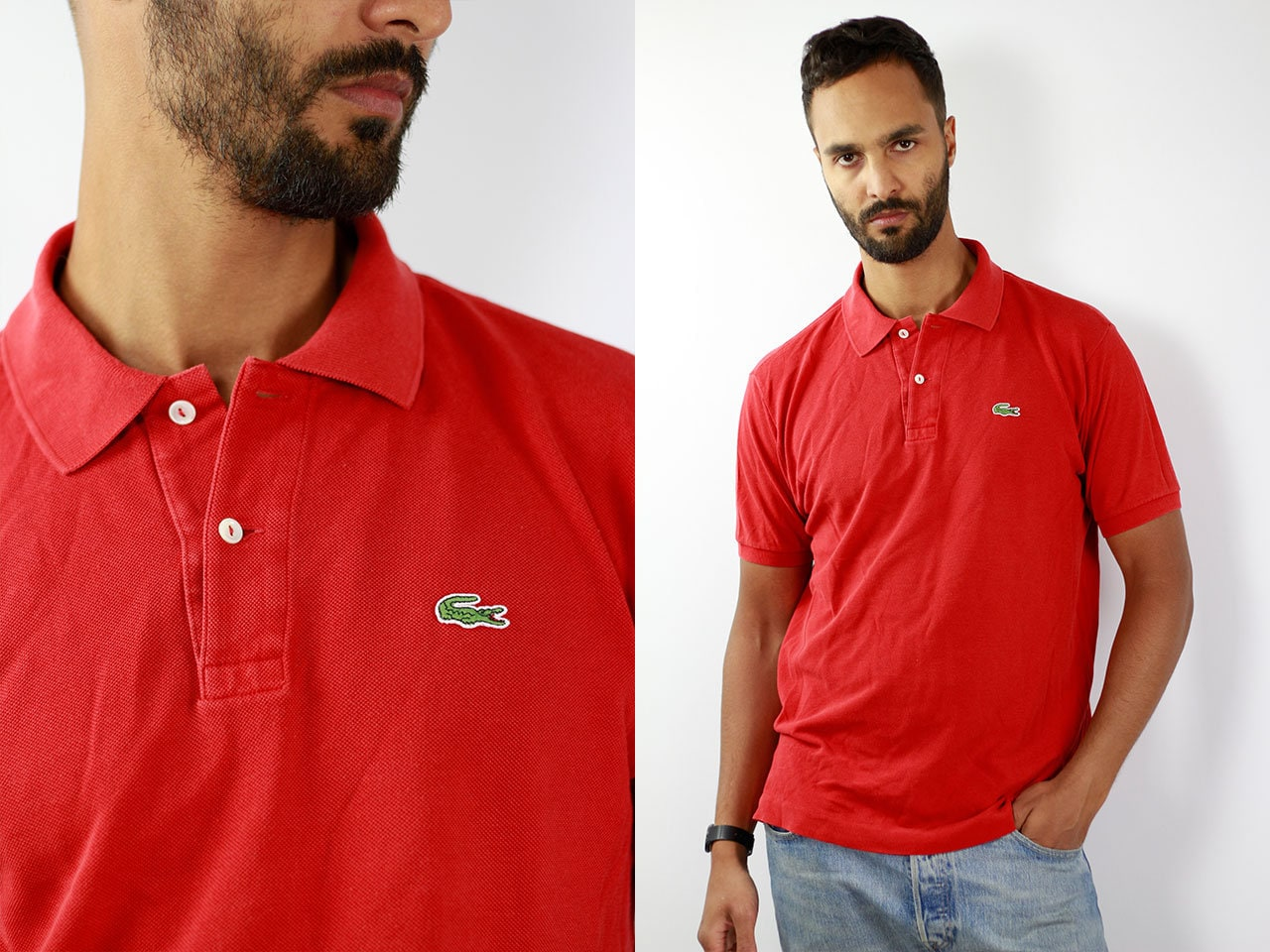 Lacoste Poloshirt Red Poloshirt Lacoste Polo Shirt Vintage Lacoste