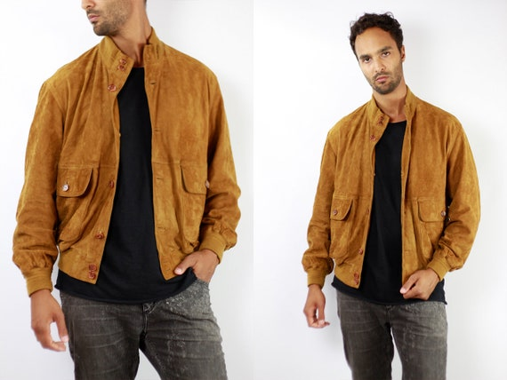 Vintage Suede Jacket Vintage Suede Bomber Suede Bomber Jacket Brown Suede Jacket Brown Bomber Jacket Soft Suede Jacket Large Suede WLJ75