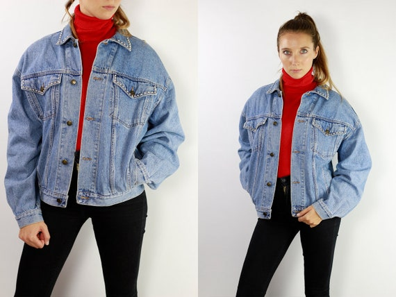 Jean Jacket 90s Denim Jacket Vintage Denim Jacket Oversize Denim Jacket 90s Jean Jacket Jean Jacket Large Denim Jacket Grunge 90 DJ7