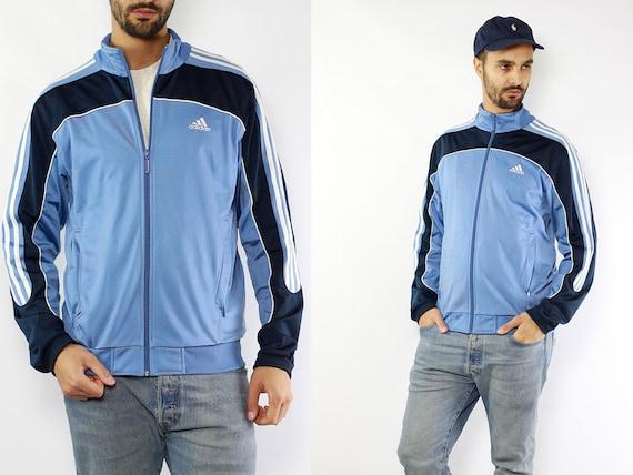 Blue Adidas Windbreaker Adidas Jacket Track jacket Adidas Shell Jacket Adidas Jacket 90s Windbreaker 90s Track Jacket Vintage Windbreaker