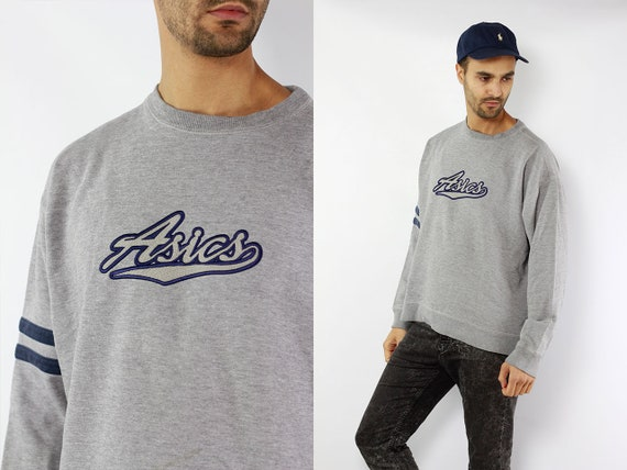 Vintage Sweatshirt Asics Sweatshirt 90s Sweatshirt Asics Jumper 90s Jumper Vintage Jumper 90s Hoodie Asics Hoodie Asics Sweater