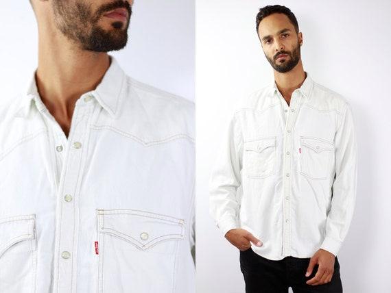 LEVIS Denim Shirt Levis Jean Shirt Levis Shirt Levis 90s Levis Shirt 90s Jean Shirt 90s Denim Shirt Vintage Jean Shirt Denim Shirt Grunge