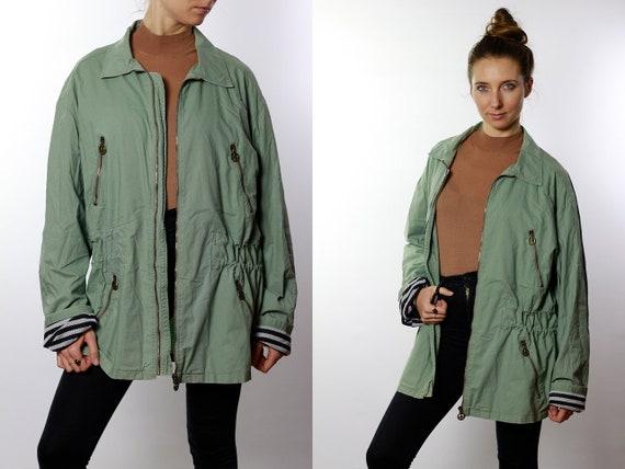 Moschino Jacket / Moschino Coat / Vintage Moschino / Vintage Moschino Coat / Moschino Parka / Vintage Green Parka / 90s Moschino JA71
