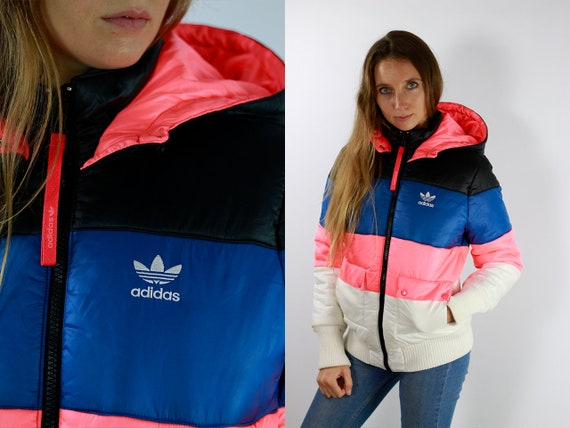 Puffer Jacket ADIDAS Jacket Vintage Adidas Jacket Puffer Jacket Puffer Jacket Pink 90s Adidas Jacket 90s Puffer Jacket