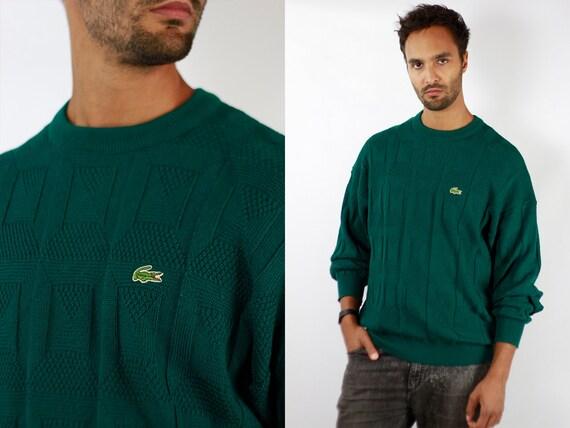 LACOSTE Jumper  Sweater Lacoste Green Lacoste Sweatshirt 90s Sweater Lacoste  Lacoste Vintage  Lacoste Men  Vintage Lacoste  Green WP71