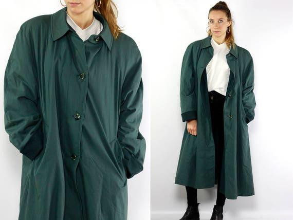 Trench Coat Green / Long Coat Green / Trench Coat / Trenchcoat Green / Trench Coats / Long Coat Trench / Trenchcoats Women / Long Trenchcoat